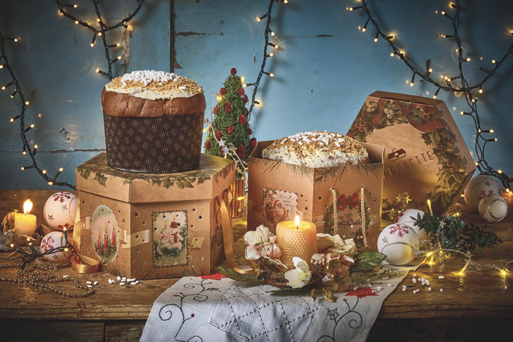scatole e confezioni natalizie
