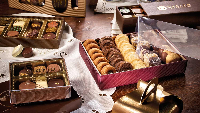 scatole di carta per biscotti